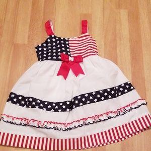 Baby girl american flag inspired dress size 24 M